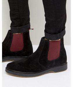 Asos | Черные Замшевые Ботинки Челси