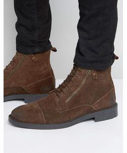 Asos | Ботинки На Шнуровке С Молнией