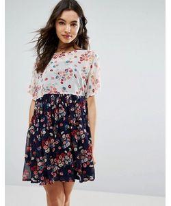 Asos | Свободное Платье С Цветочным Принтом