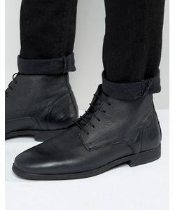Asos | Черные Кожаные Ботинки Чукка