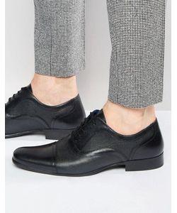 Red Tape   Черные Кожаные Оксфордские Туфли