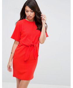 Asos   Цельнокройное Платье С Завязкой Спереди