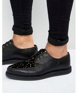 Asos | Черные Кожаные Туфли В Золотистую Крапинку