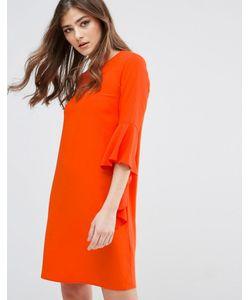 Miss Selfridge | Цельнокройное Платье С Расклешенными Рукавами