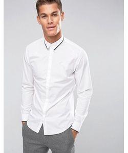 Selected Homme | Узкая Рубашка С Длинными Рукавами И Отделкой На Воротнике