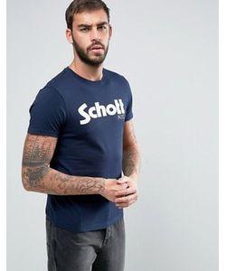 Schott | Темно-Синяя Футболка С Логотипом