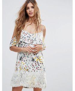 Hazel | Платье Мини С Цветочным Принтом И Вырезами На Плечах