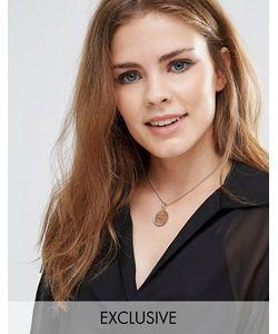Katie Mullally | Розово-Золотистое Ожерелье-Чокер С Шиллингом С Пробой