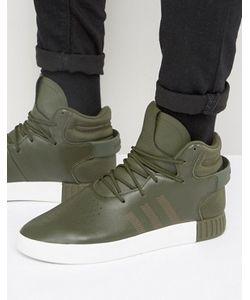 adidas Originals | Зеленые Кроссовки Tubular Invader