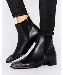 Bronx | Кожаные Ботинки С Цепочками На Носке