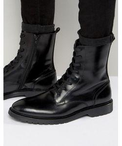 Zign | Кожаные Ботинки В Стиле Милитари На Шнуровке