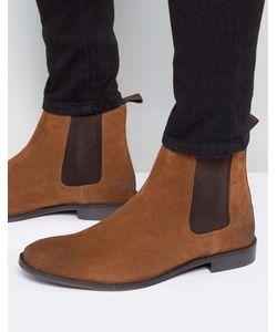 Asos | Светло-Коричневые Замшевые Ботинки Челси