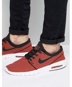 Nike SB | Оранжевые Кроссовки Stefan Janoski Max 631303-014
