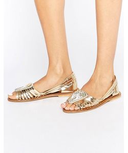 Asos | Кожаные Летние Туфли С Декоративной Отделкой Jia