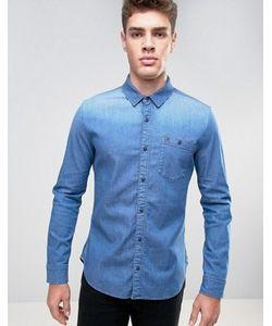 Hilfiger Denim | Эластичная Джинсовая Рубашка Классического Кроя Цвета Индиго