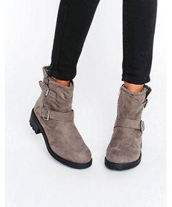 New Look | Байкерские Ботинки Из Искусственной Замши