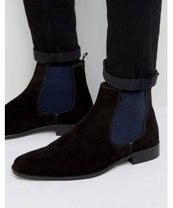 Dune   Черные Замшевые Ботинки Челси Marky