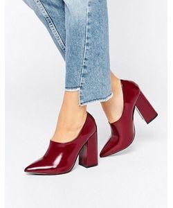 Daisy Street   Лакированные Туфли На Высоком Каблуке С Высокой Союзкой