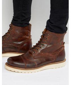 Jack & Jones | Кожаные Ботинки На Шнуровке Martin
