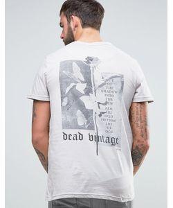 Dead Vintage | Футболка С Розой На Спине