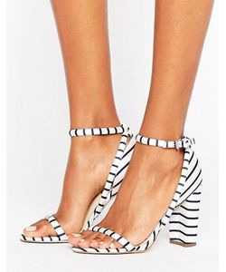 OFFICE | Stripes Barely There Heeled Sandals