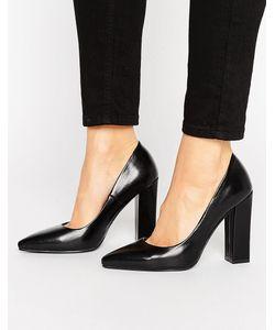 RAID   Черные Туфли На Блочном Каблуке С Острым Носком