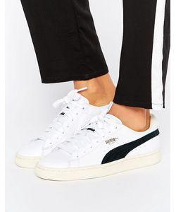 Puma | Белые Классические Кроссовки С Черной Отделкой Basket