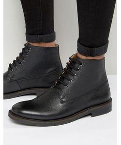Kg Kurt Geiger | Черные Кожаные Ботинки На Шнуровке Kg By Kurt Geiger