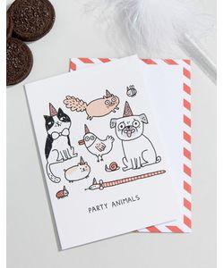 OHH DEER | Открытка На День Рождения С Надписью Party Animals