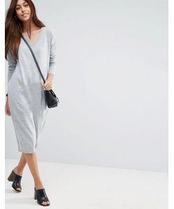 Asos | Платье Миди С V-Образным Вырезом