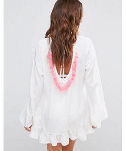 boohoo | Свободное Платье С Оборкой И Кисточками