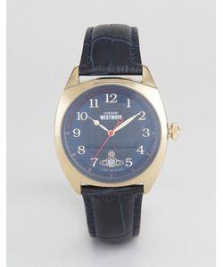 Vivienne Westwood | Часы С Темно-Синим Кожаным Ремешком Vv175blbl