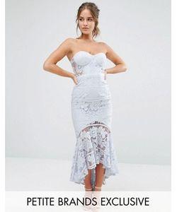 Jarlo Petite | Кружевное Платье-Бандо Миди