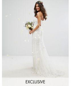 Amelia Rose   Платье-Бандо Макси С Отделкой Bridal