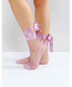 Asos | Сетчатые Носки С Завязкой На Бант