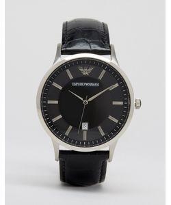 Emporio Armani | Наручные Часы С Кожаным Ремешком Ar2411 Черный