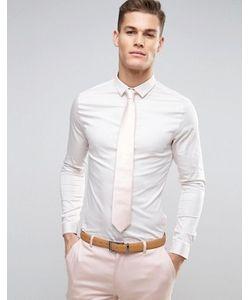 Asos | Сатиновая Свадебная Рубашка Скинни