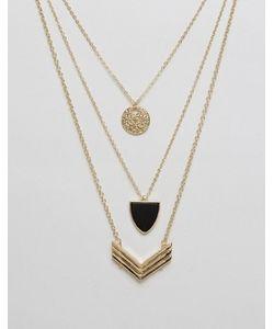Ashiana | Многорядное Ожерелье С Дизайном В Виде Шевронов