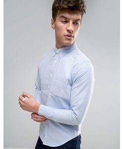Abercrombie and Fitch | Обтягивающая Оксфордская Рубашка С Карманом Abercrombie Fitch