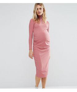 Bluebelle Maternity | Платье Миди Для Беременных В Рубчик С Молнией