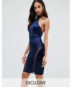 NaaNaa | Платье-Футляр Миди Без Рукавов С Высоким Воротом