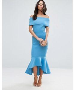 Asos | Платье Миди С Баской Premium