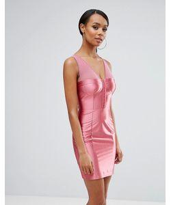 NaaNaa | Блестящее Облегающее Платье С Лифом-Корсетом