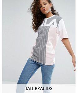 Fila Tall | Oversize-Футболка В Стиле Колор Блок С Логотипом