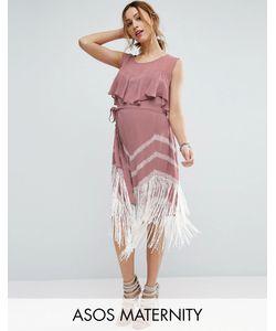 ASOS Maternity | Платье С Бахромой По Краю