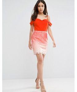 Adelyn Rae | Платье С Кружевной Юбкой И Эффектом Омбре