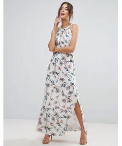 Uttam Boutique   Платье Макси С Цветочным Принтом И Тонкими Складочками На Лифе Uttam