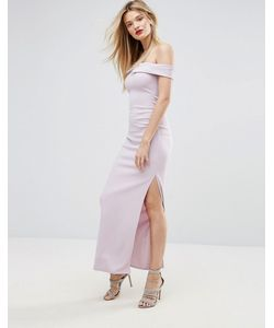 MISSGUIDED | Платье Макси С Широким Вырезом И Разрезом