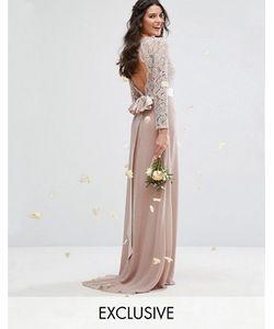 TFNC | Кружевное Платье Макси С Бантом Сзади Wedding