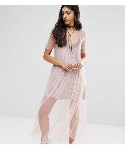 Glamorous Tall   Платье Из Прозрачной Сетки